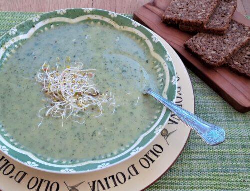 Courgettesoep met blauwe kaas