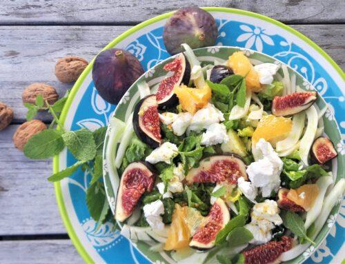 Salade met venkel en vijgen